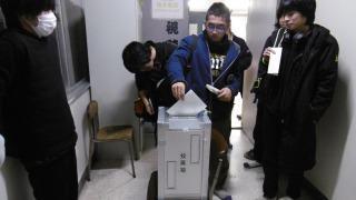 投票の様子①